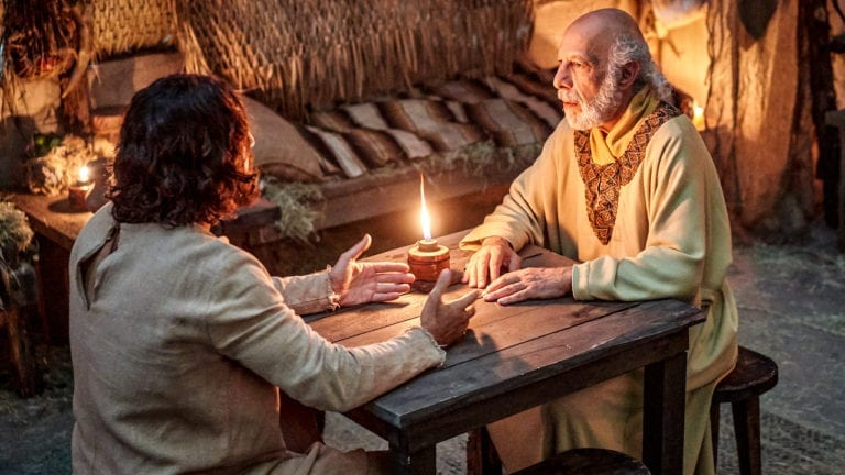 Nicodemo y Jesús en el techo - CC Attribution - Share Alike
